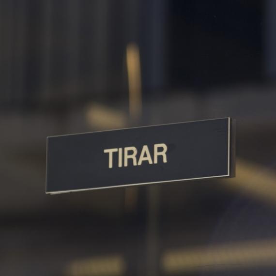 LETRERO TIRAR - EMPUJAR