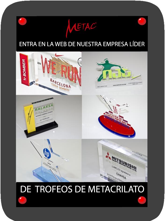METAC, Trofeos de metacrilato